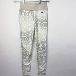 Nike Pro grey patterned leggings